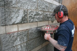 Wall Saw Cutting